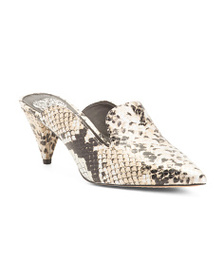 VINCE CAMUTO Leather Snake Mules