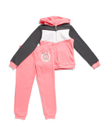 XOXO Little Girls 2pc Sequin Logo Fleece Set