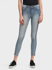 Donna Karan HIGH-RISE SKINNY ANKLE JEAN - RACING S