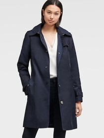 Donna Karan HOODED TRENCH COAT