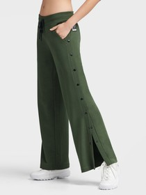 Donna Karan WIDE LEG JOGGER WITH SNAP PLACKET
