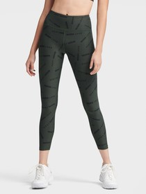 Donna Karan HIGH-WAISTED LOGO PRINT LEGGINGS