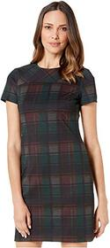 Calvin Klein Plaid T-Shirt Body Dress