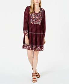 Style & Co Printed Peasant Dress, Created for Macy