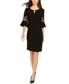 JM Collection Embroidered Sleeve Dress, Created fo