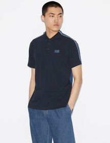 Armani REGULAR-FIT TWO-TONED POLO