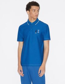 Armani TWO-TONED REGULAR-FIT POLO SHIRT