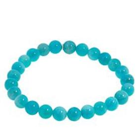 Jay King Sterling Silver Amazonite Bead Stretch Br