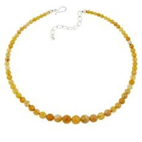Jay King Sterling Silver Yellow Opal Beaded Neckla