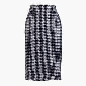 J. Crew Factory Wool-blend pencil skirt in houndst