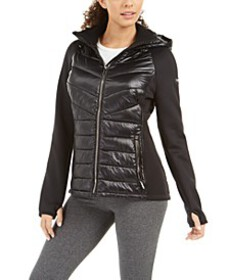 Calvin Klein Performance Mixed-Media Quilted Jacke