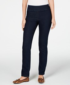 Charter Club Cambridge Pull-On Slim Fit Jeans, Cre