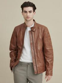 Josh Leather Moto Jacket