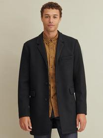 Designer Brand Stretch Wool Blend Topper Coat