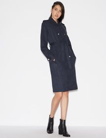 Armani FAUX SUEDE TRENCH COAT