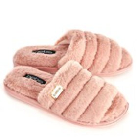 BEBE Bebe Sadia Womens Faux Fur Slide Slippers