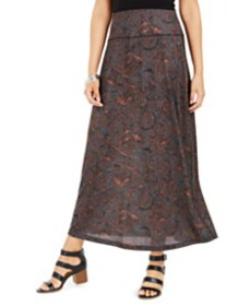 Style & Co Printed Pull-On Maxi Skirt, Created for