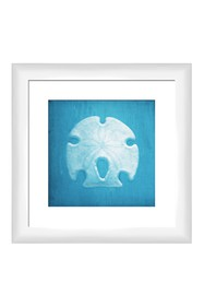 PTM Images Nautical Shell in Blue II Wall Art