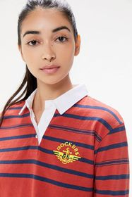 Dockers Striped Cropped Rugby Tee