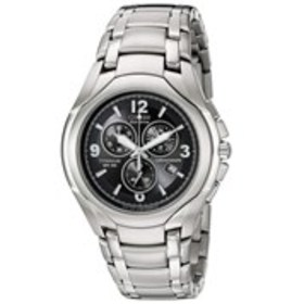 CITIZEN Citizen Eco-Drive Mens Black Dial Titanium