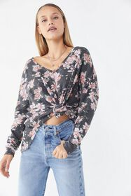 Out From Under Slouchy Cozy Thermal V-Neck Top