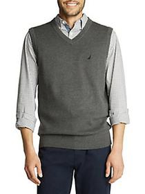 Nautica Navtech Cotton-Blend Sweater Vest CHARCOAL