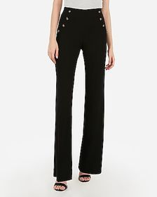 Express high waisted button front trouser pant