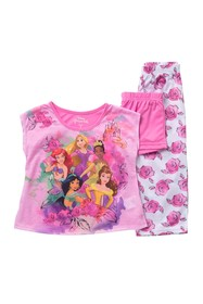 AME Disney(R) Princess 3-Piece Pajama Set (Little