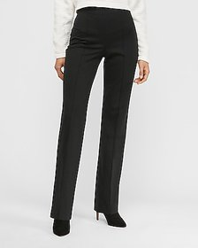Express high waisted knit trouser pant