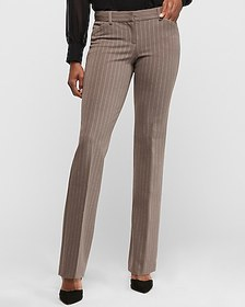 Express low rise pinstripe barely boot editor pant