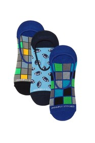 Unsimply Stitched Printed No Show Socks - Pack of