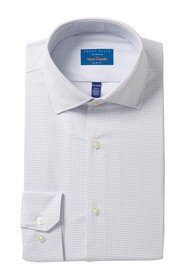 Perry Ellis Tech Slim Fit Windowpane Shirt