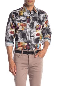 Robert Graham Arbor Lake Mixed Print Classic Fit S