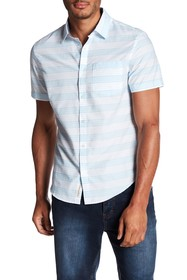 Original Penguin Short Sleeve Stripe Print Slim Fi