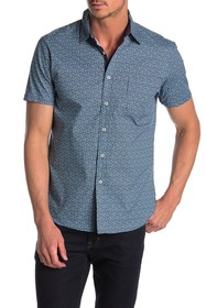 CONSTRUCT Micro Floral Slim Fit Shirt