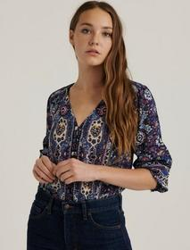 Lucky Brand Becca Button Down Peasant