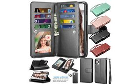 Leather Wallet Credit Card Flip Case Cover For iPh