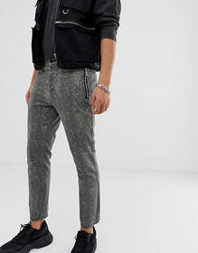 ASOS DESIGN skinny cropped pants in snakeskin with