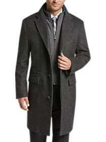 Joseph Abboud Charcoal Gray Twill Modern Fit Topco