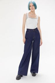 BDG Hadley High-Waisted Wide Leg Jean – Rinsed Den