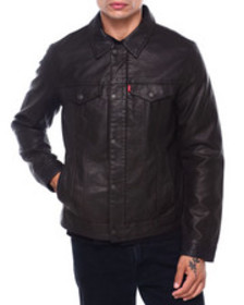 Levi's faux leather classic trucker jacket