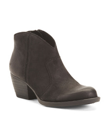 BORN Western Suede Ankle Booties