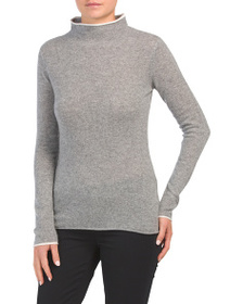 NICOLE MILLER Cashmere Sweater With Tipping Detail
