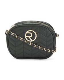 RAMPAGE Quilted Oval Crossbody