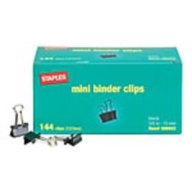 Staples® Mini Metal Binder Clips Bulk Pack, Black,