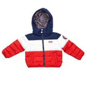 LEVI'S Baby Boys Color Block Logo Puffer Coat with