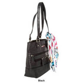 Stone Mountain Wash Elle Tote with Removable Scarf