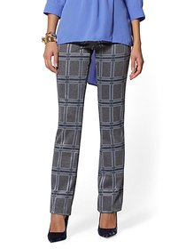 Bootcut Pull-On Pant - Signature Fit - Plaid - 7th