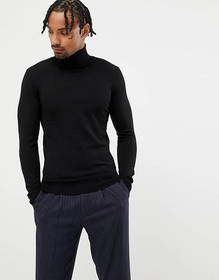 Gianni Feraud Premium Muscle Fit Stretch Roll Neck