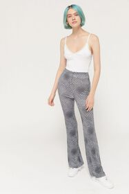 UO Clarissa Printed High-Rise Flare Pant